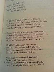 Paul Celan: Es fällt nun, Mutter, Schnee in der Ukraine, in: Die Gedichte. Kommentierte Gesamtausgabe, Frankfurt am Main 2003.