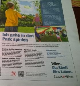 Ich gehe in den Park spielen